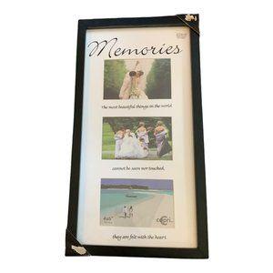 3 photo frame 4 x 6 photos Memories